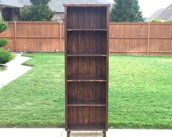 Bookshelf - Handmade Bookcase - Living Room Bookcase - Bedroom Bookcase - Wood Bookshelf