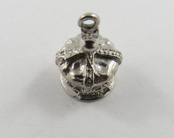 Kings Crown Sterling Silver Charm or Pendant.