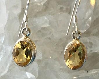 Citrine Earrings | Citrine Jewelry | Citrine Crystal |  Gemstone Earrings | Gemstone Jewelry | Sterling Silver Citrine | November Birthstone