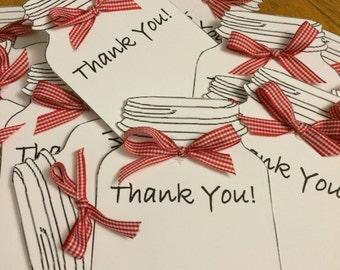 Hand Made Thank You Cards with Blank White Envelope