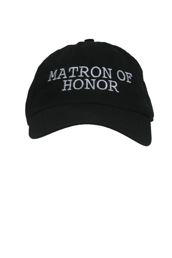 Matron of Honor - Ball Cap (Black with White Stitching)
