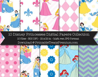 Disney Princesses Digital Paper Pack