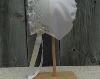 Baby Bonnet - Heirloom Style - Sz 0-3 mo.