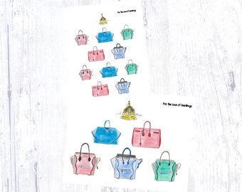 For The Love of Handbags Sticker Set