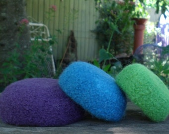 Stunning Felted Wool Mini Nesting Bowls - set of 3