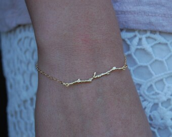 Olive Branch, Branch Bracelet, Gold Filled Bracelet, 14k Gold Filled, Branch, Twig Bracelet, Twig, Christian Jewelry, Christian, Gold Filled