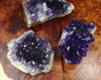 Extra Dark Amethyst - Crystal Cluster - Display Piece - Crystal Clusters - Druzy Drusy - Raw Stone - Healing Crystals And Stones - Natural