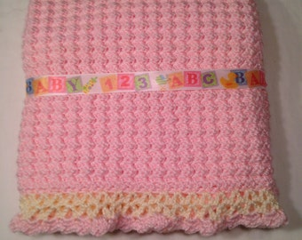 Super Soft Crochet Baby Blanket, 32x32