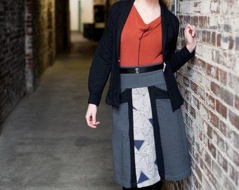 SALE! Womens Tencel Top in Black, Teal or Orange, Long sleeve shirt with cowl neck, Subatomic Top