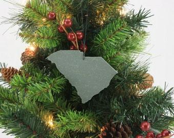 South Carolina Slate Christmas Ornament