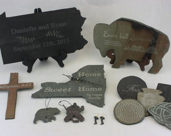 Laser Etching for Bison Hill Stonecrafts products