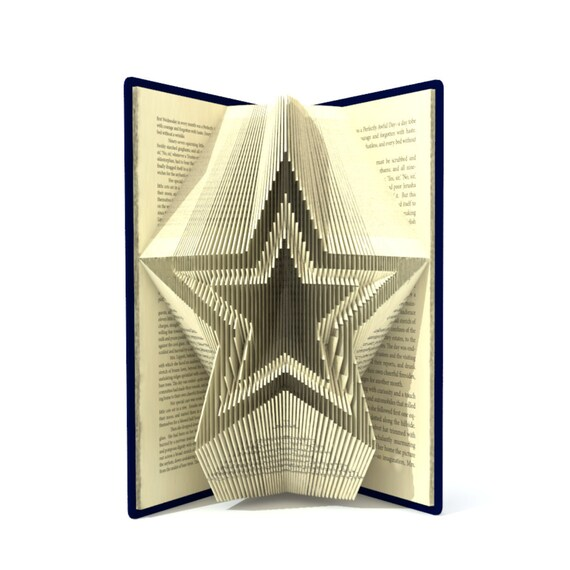 Book folding pattern christmas star 244 folds tutorial with