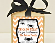 Halloween Favor Box, 12 Halloween Party Favor Box Kit, Personalized Labels, Halloween Treats, Candy Box, Party Favors, Kids Halloween Party