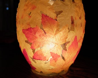 Fall Candle Holder.