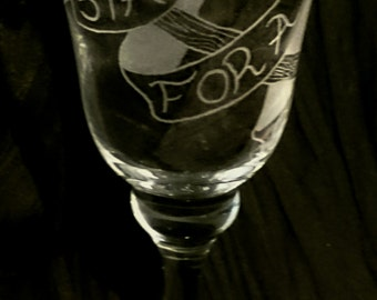 Stay For A Spell Goblet / Chalice / Wineglass Pagan Wicca Witch