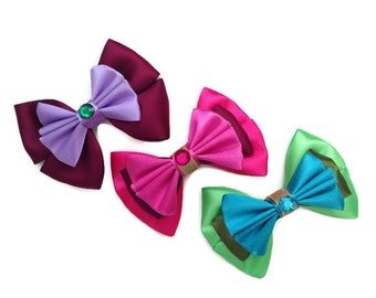 Wicked Stepmother & Stepsisters Disney's Cinderella Inspired Lady Tremaine Anastasia Drizella Hair Bows