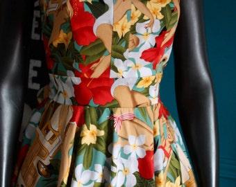 Dress Tiki Hawaiian pinup rockabilly vintage style
