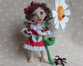 textile  doll fairy good mood