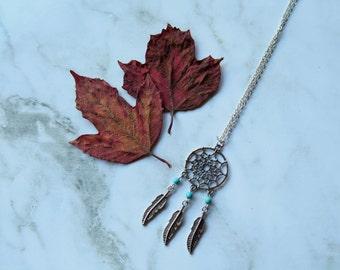 Dream Catcher Turquoise Stone Necklace