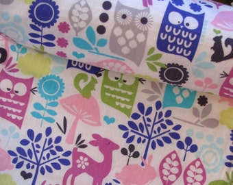 Baby Blanket- Retro Forest Baby Blanket with Minky