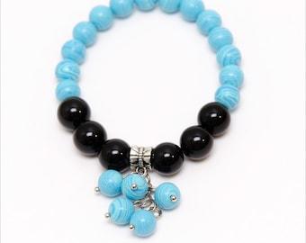 Blue Black Bracelet - Bunch Bracelet - Woman's Bracelet - Summer Bracelet - Summer Jewelry - Gift For Her - Gift For Daughter - Gift Idea