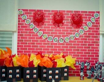 Fire Truck Favor Bags (set of 10), Fireman Party Favor Bags, Firehouse Party, Fire Fighter Favor Bag, Goodie Bags