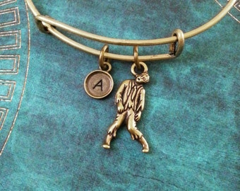 Zombie Bangle Bracelet Bronze Zombie Bracelet Zombie Jewelry Zombie Gift Stackable Bangle Charm Bracelet Expandable Personalized Bangle