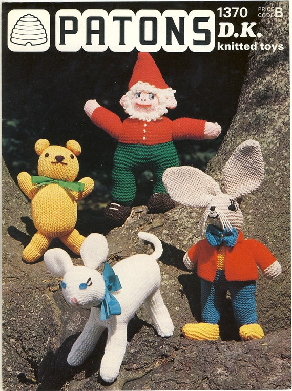 Patons Knitting Patterns Toys : PATONS 1370 Toys Knitting Pattern. Original by ...