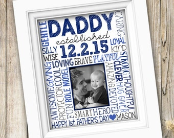 Father's Day Gift for New Dad ~ Printable First Father's Day Gift ~ Daddy Established Gift From Child New Father Gift First Time Dad DIGITAL