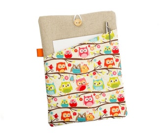 "Owl Kindle case, 6"" eReader, Kindle Fire sleeve, Kindle Voyage, Kobo cover, Paperwhite case, eReader cover, Kindle Touch, Nook cover, Owls"