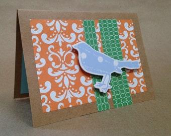 Set of 5 Handmade Bird Note Card Set
