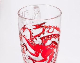 House Targaryen Mug, Fire and Blood, Game of Thrones Mug, Mother of Dragons Mug, Khaleesi Mug, Unique Game of Thrones Gift, Dragon Mug