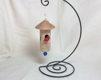 Natural Wood Birdhouse Ornament