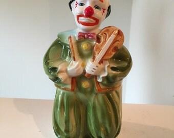 Vintage Relpo Pottery Signed Clown Planter