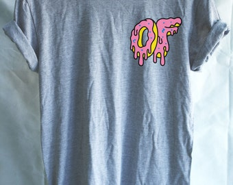 Odd Future Dripping Breast Logo Donut Tshirt Mens Funy T-shirt - OFWGKTA Wolf Gang Tyler The Crer eator Unisex Christmas Gift