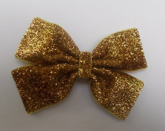 Gold Glitter Hairbow