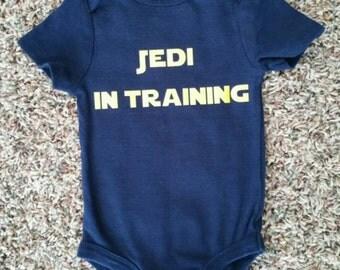 Jedi in Training Jedi Baby Star Wars Onesie Star Wars Baby Funny Onesie Hip Onesie