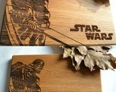 Darth Vader Star wars Cutting Board Man Cave Gift  Gift for Dad Wooden Cutting Board Personalized Gift Gift for Him