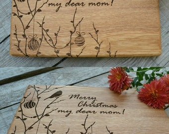 Mom gift for her Cutting Board  Personalized mom Kitchen Decor Gift for Mom Cookware Christmas Gift for grandma