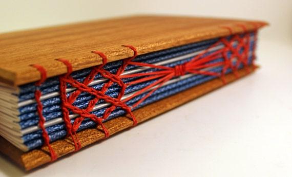 Wood Covered Book ~ Sapele wood covered handbound journal wooden sketchbook