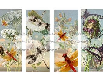 Flower Bookmarks Download Digital Scrapbook Elements Printable Bookmarks Unique Digital Images Printable Gift Tags Digital Collage Sheets