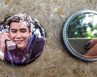 Zack Morris Phone Saved By the Bell 2.25 inch 58MM purse pocket hand button mirror