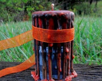 All Hallows Eve Candle ~ Witch's Spell Candle ~ Witch's Candle ~ Wicca Samhain Candle ~ Witchcraft Candle ~ Ritual Candle ~ Altar Candle