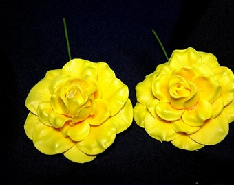 Yellow Gardenia foam flower