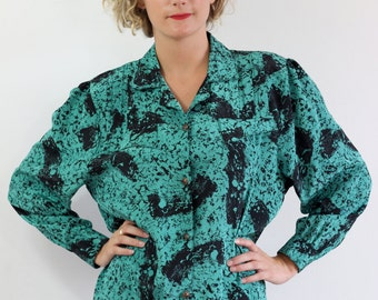 Blouse vintage graphics Made in France.Taille L