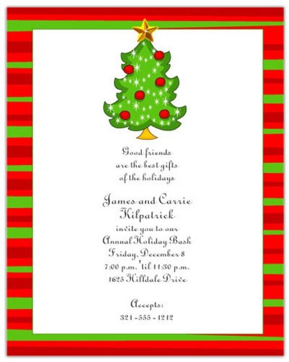 christmas tree holiday party invitation family christmas invite
