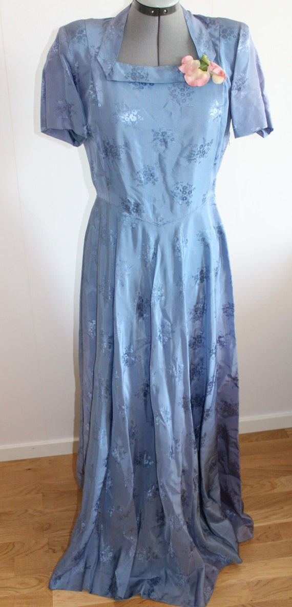1940s Dress Silky Stars Vintage 40s Dress