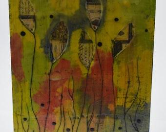 Hidden Fun - an 8x10 encaustic art piece