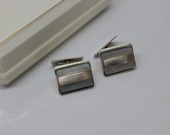 Cuff links of cufflinks silver mother of Pearl MS131