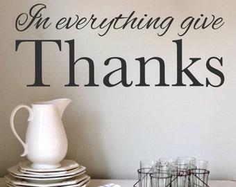 Give Thanks Grateful Wall Art Be Grateful Wall Art Thanksgiving Decal Vinyl Wall Sign Vinyl Letters  KJV Christian Decal Vinyl Wall Decal